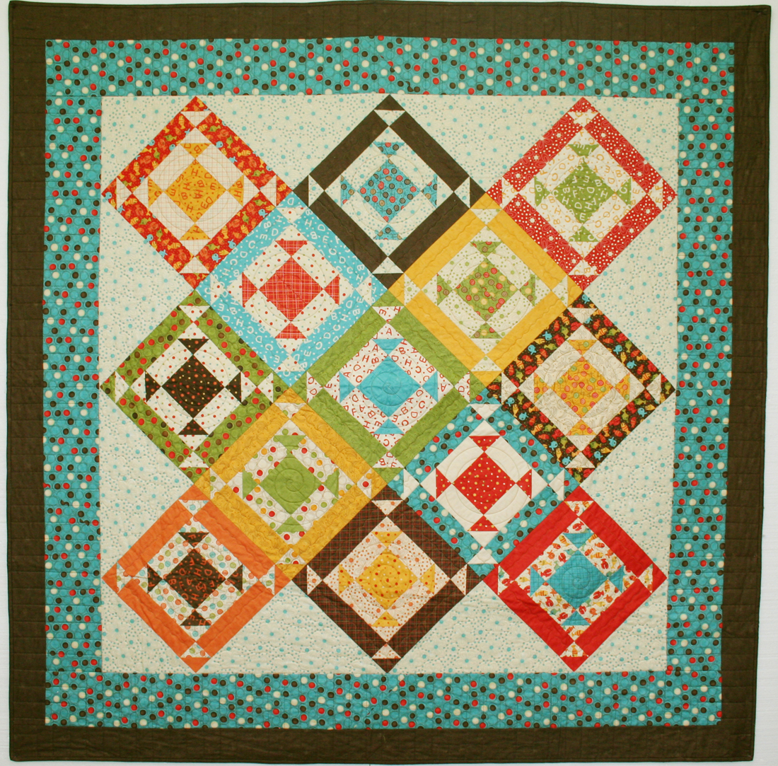 Jelly Roll Quilt Pattern ~ HOPSCOTCH ~ by Pieces From My Heart
